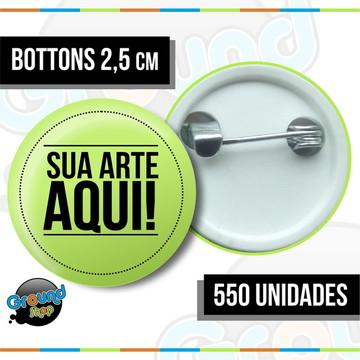 550 Bottons 2,5 Personalizados - Boton
