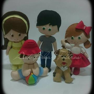 Bonecos personalizados familia em feltro