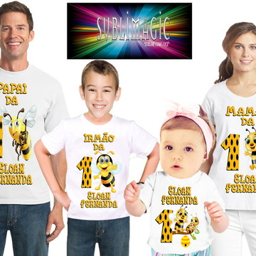 Kit 4 Camisetas Abelhinha