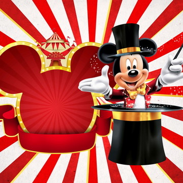 Painel festa Circo do Mickey