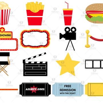 Kit - 16 Elementos Digitais - Cinema
