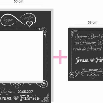 Placa Chalkboard para Fotos + Bem Vindos