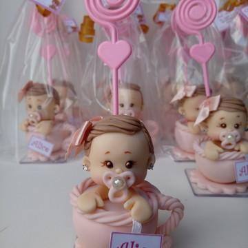 Lembrancinha chá de bebê - bebê na xicara