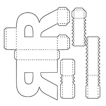 Molde para Letras e Números 3D