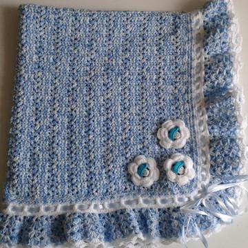 Manta de lã prá bebê