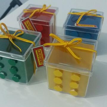 Caixa acrílica Tema Lego