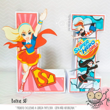 Letra 3D DC Super Hero Girls