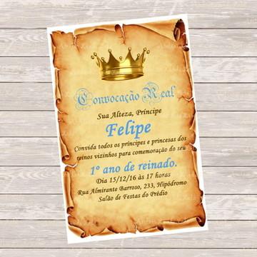 Convite Digital Pergaminho - Menino