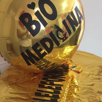 Balão dourado redondo personalizado