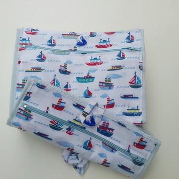 toalhinha escolar higiênica com ziper