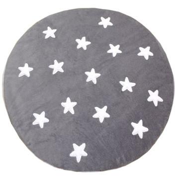 Tapete de Pelúcia Redondo Estrelas