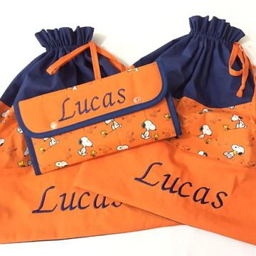 Sacos roupa (limpa/suja) + kit higiene