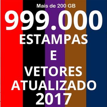 Kit Digital 999.000 Estampas e Vetores