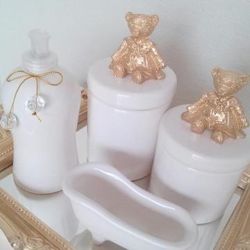 Kit Higiene ursinha dourado