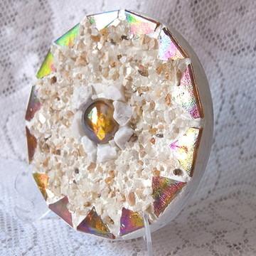 Mini Mandala Dourada
