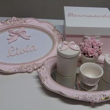 Kit higiene lacinho rosa