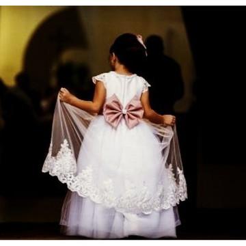 Vestido de Daminhas com Tule Francês -