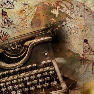 Quadro Vintage Máquina de Escrever 30x40