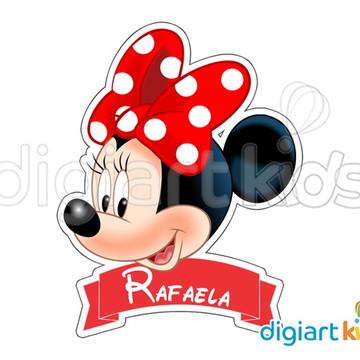 Placa com Recorte - Minnie