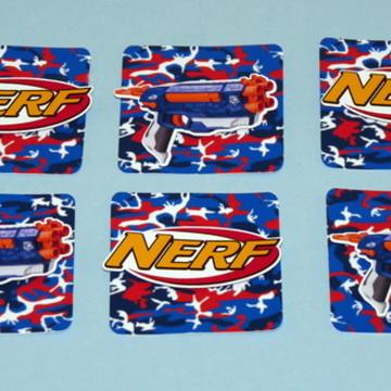 Aplique quadrado 3D Nerf