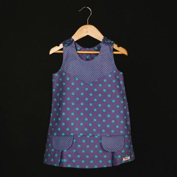 Vestido com prega cor lilás
