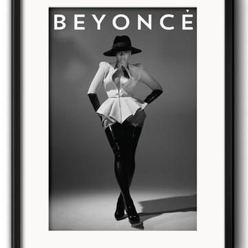 Quadro Beyonce Preto Branco com Paspatur