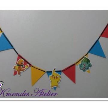 Bandeirolas Coloridas Pókemon