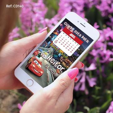 Convite Carros -Digital Whatsapp