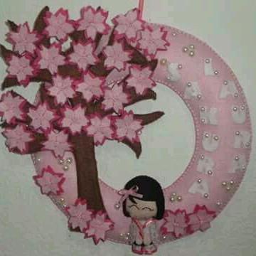 Guirlanda maternidade árvore Sakura
