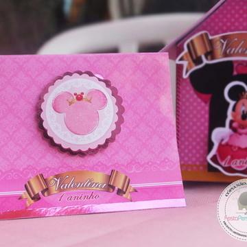 Convite Scrap Minnie Luxo / Princesa