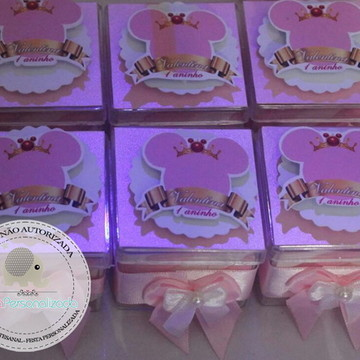 Caixa de Acrílico Minnie Luxo Scrap