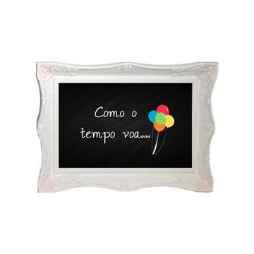 "Chalkboard ""Tempo"" para Festa Infantil"