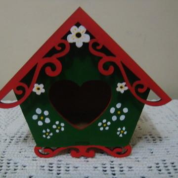 Casa de passarinho coração