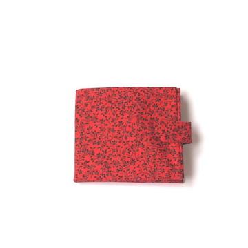 Carteira Floral Vermelha