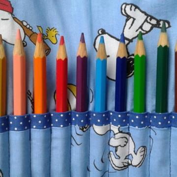 Porta lápis de cor