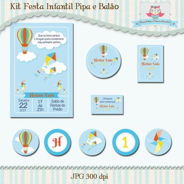 Kit Festa Infantil Pipa e Balão