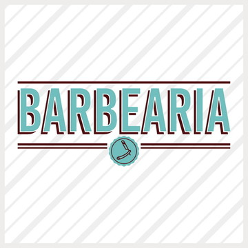 Adesivo Vitrine Beleza Barbearia Selo