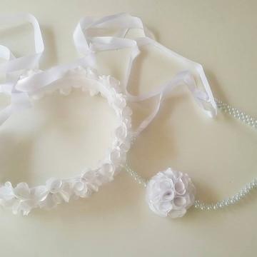 coroa flor headband faixa tiara noiva