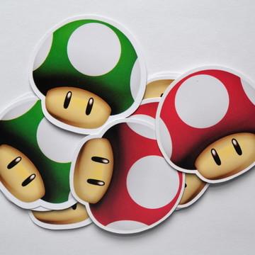 Adesivo cogumelo Super Mario Bros