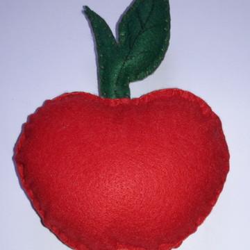 Frutas Decorativas de Feltro - Maçã