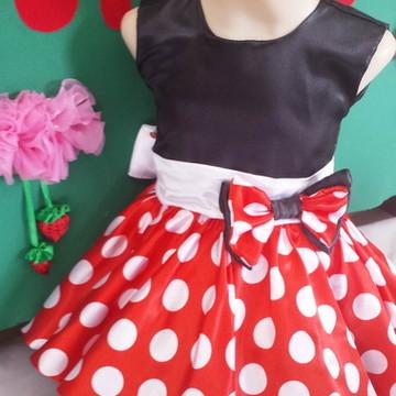 Vestido Minnie Vermelha Cavado