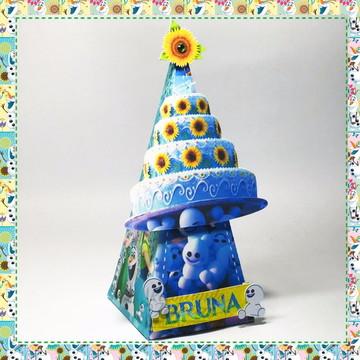 Caixa Pirâmide Frozen Fever