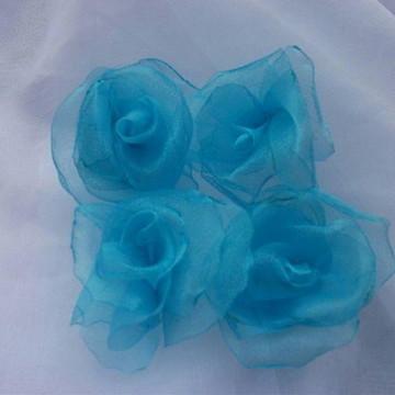 Flores de Organza Cristal - 5cm