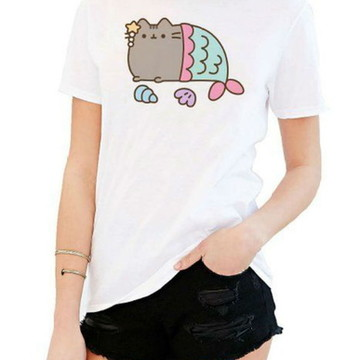 T-shirt Pusheen mermaid