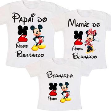 Kit 3 Camiseta Mickey Aniversario