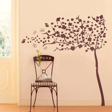 Adesivo de Parede Árvore ao Vento