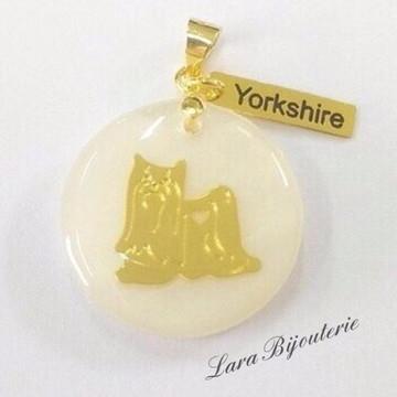 Pingente eu amo meu Pet - Yorkshire