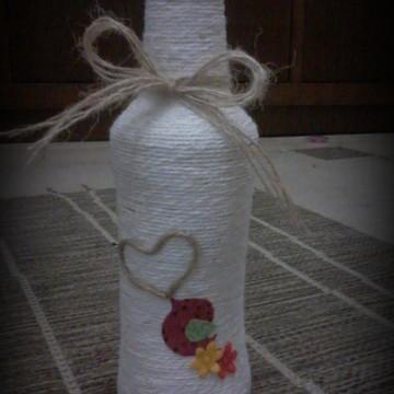Garrafa long neck decorada