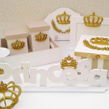 Kit Bebê Princesa dourado completo
