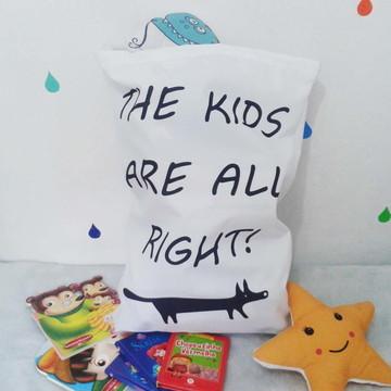 Saco Organizador de Brinquedos Kids
